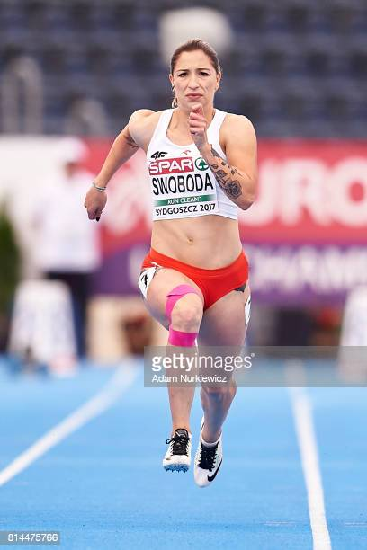 Ewa Swoboda from Poland competes in women's 100m final during Day 2 of European Athletics U23 Championships 2017 at Zawisza Stadium on July 14 2017...