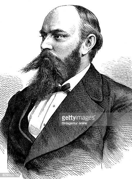 Ewald august koenig 1844 1913 german professor of mining and mineralogy historical illustration 1877
