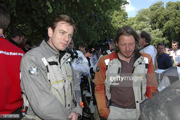 Ewan MacGregor and Charley Boorman photographed at the Goodwood Festival of Speed West Sussex UK 26th June 2005