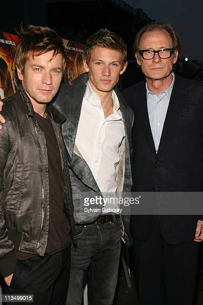 Ewan McGregor Alex Pettyfer and Bill Nighy during The Weinstein Company's Premiere of 'Alex Ryder Operation Stormbreaker' Inside Arrivals at The...