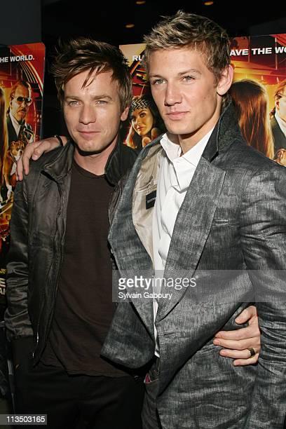 Ewan McGregor and Alex Pettyfer during The Weinstein Company's Premiere of 'Alex Ryder Operation Stormbreaker' Inside Arrivals at The Intrepid Sea...