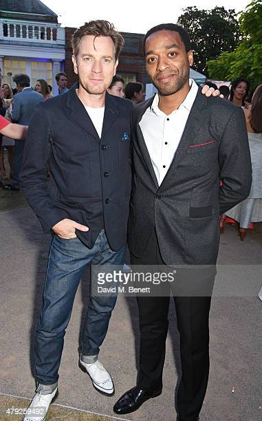 Ewan McGregor and Chiwetel Ejiofor attend The Serpentine Gallery summer party at The Serpentine Gallery on July 2 2015 in London England