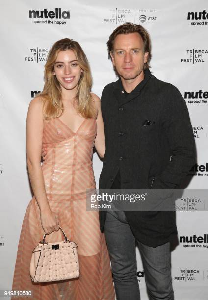 Ewan McGregor and guest attend the afterparty for ZOE during the 2018 Tribeca Film Festival at The Ainsworth on April 22 2018 in New York City