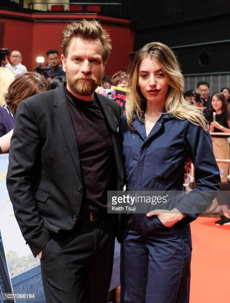 Ewan McGregor and daughter Clara McGregor attend the premiere of 'Christopher Robin' on September 5 2018 in Tokyo Japan