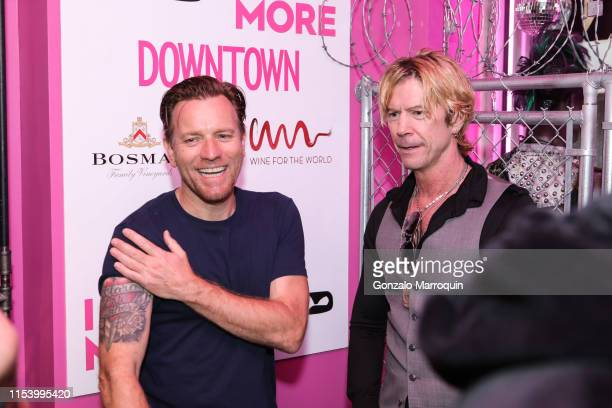 Ewan McGregor and Duff McKagan during the Mae McKagan Capsule Collection Launch at I NEED MORE on June 05 2019 in New York City