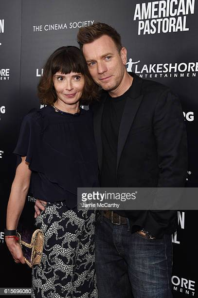 Ewan McGregor and Eve Mavrakis attend a screening of American Pastoral hosted by Lionsgate Lakeshore Entertainment and Bloomberg Pursuits at Museum...