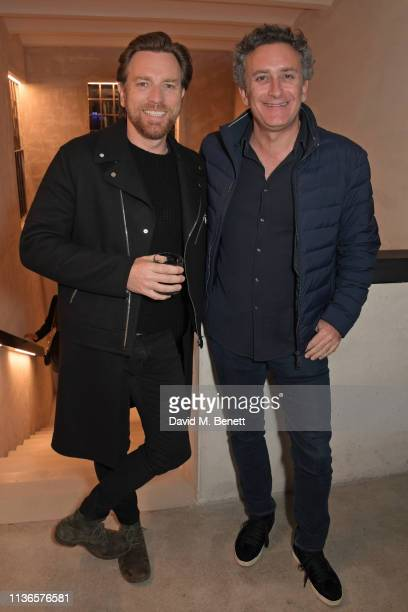 Ewan McGregor and Formula E CEO Alejandro Agag attend Flavio Briatore's birthday dinner ahead of the ABB FIA Formula E GEOX Rome EPrix at Caviar...