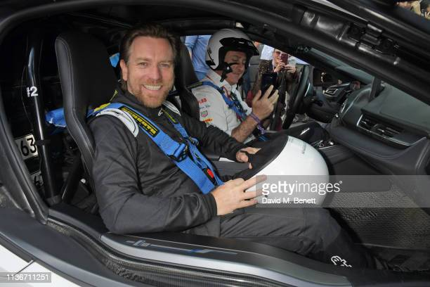 Ewan McGregor and Formula E CEO Alejandro Agag attend the ABB FIA Formula E GEOX Rome EPrix 2019 on April 13 2019 in Rome Italy