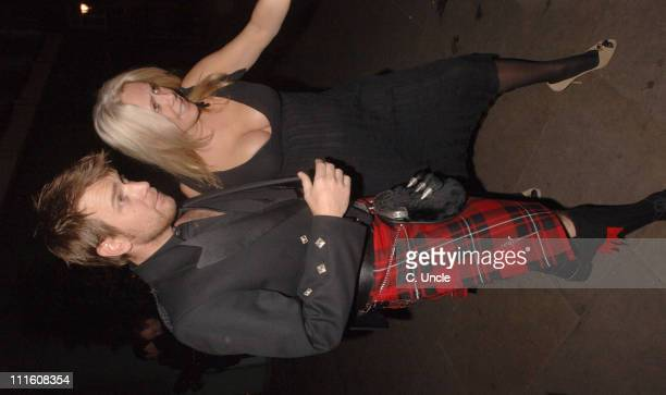 Ewan McGregor and guest during Burns' Night VIP Fundraising Party Departures January 25 2006 at Asia de Cuba in London Great Britain