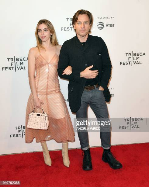 Ewan McGregor and his daughter Clara Mathilde McGregor attend the world premiere of 'Zoe' at the 2018 Tribeca Film Festival at BMCC on April 21 2018...