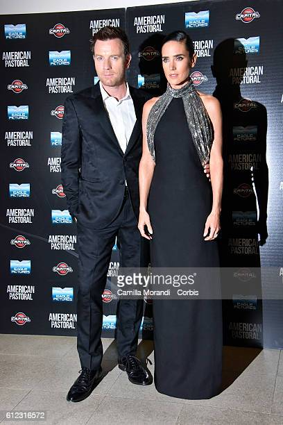 Ewan McGregor and Jennifer Connely attend the 'American Pastoral' premiere on October 3 2016 in Rome Italy