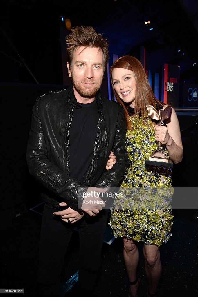 Ewan McGregor and Julianne Moore attend the 2015 Film Independent Spirit Awards at Santa Monica Beach on February 21, 2015 in Santa Monica, California.