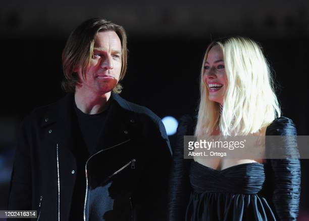 Ewan McGregor and Margot Robbie attend A Night of Music and Mayhem in Harleywood hosted by the cast of Bird Of Prey held at Hollywood and Highland on...