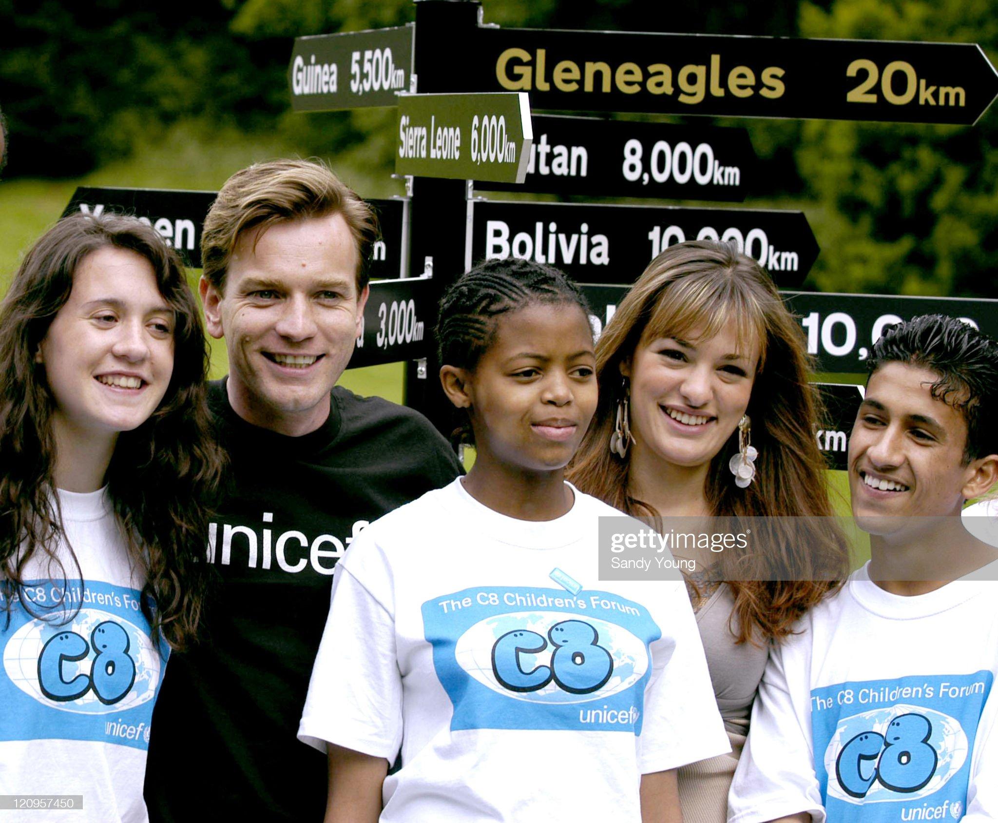 UNICEF C8 Launches Children's Summit with Ewan McGregor and Nicola Benedetti - July 3, 2005 : Fotografia de notícias