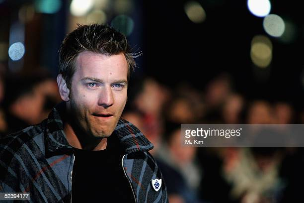 Ewan McGregor arrives at the UK Premiere of the animated film Robots at Vue Leicester Square on March 14 2005 in London