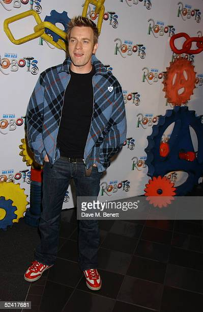 Ewan McGregor arrives at the UK premiere of the animated film 'Robots' at Vue Leicester Square March 14 2005 in London