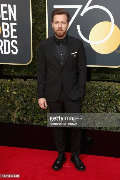 Ewan McGregor attends The 75th Annual Golden Globe Awards at The Beverly Hilton Hotel on January 7 2018 in Beverly Hills California