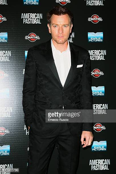 Ewan McGregor attends the 'American Pastoral' premiere at Cinema Barberini on October 3 2016 in Rome Italy