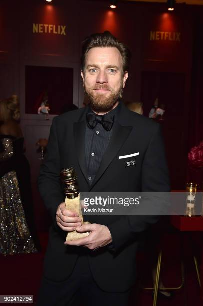 Ewan McGregor attends the Netflix Golden Globes after party at Waldorf Astoria Beverly Hills on January 7 2018 in Beverly Hills California