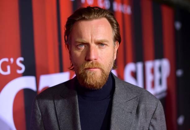"Ewan McGregor attends the premiere of Warner Bros Pictures' ""Doctor Sleep"" at Westwood Regency Theater on October 29, 2019 in Los Angeles, California."