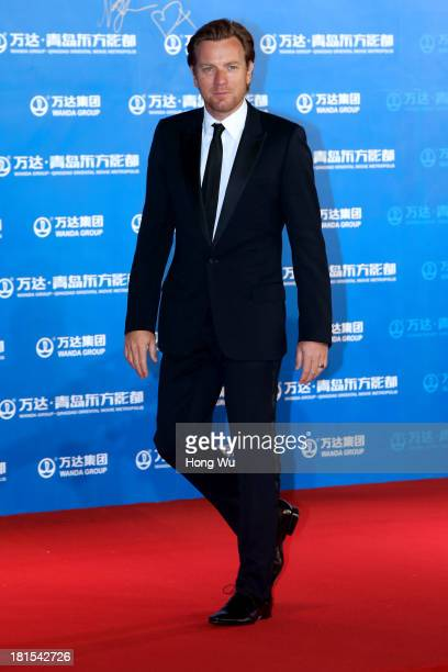 Ewan McGregor attends the red carpet show for the Qingdao Oriental Movie Metropolis on September 22 2013 in Qingdao China