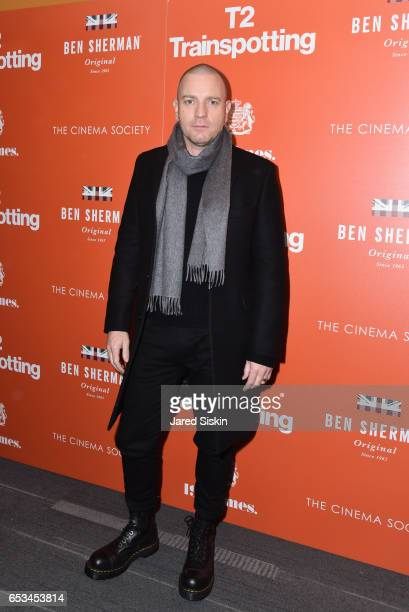 Ewan McGregor attends TriStar Pictures The Cinema Society Host a Screening of T2 Trainspotting at Landmark Sunshine Cinema on March 14 2017 in New...