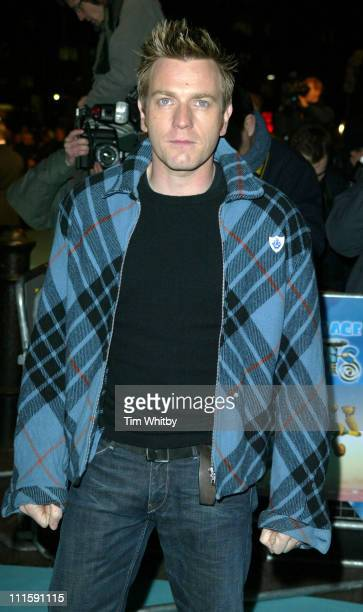 Ewan McGregor during 'Robots' London Premiere Outside Arrivals at Vue Leicester Square in London Great Britain