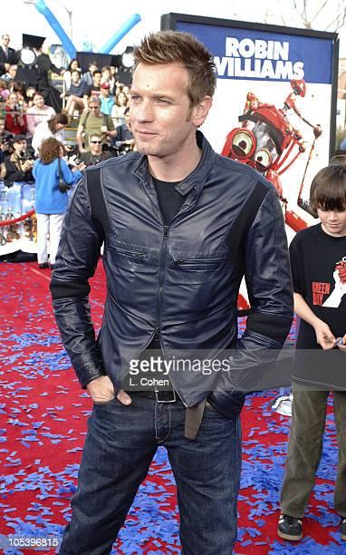 Ewan McGregor during 'Robots' Los Angeles Premiere Red Carpet at Mann Village in Westwood California United States