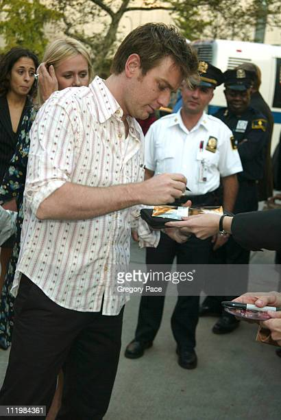 """Ewan McGregor during The 41st Annual New York Film Festival - """"Young Adam"""" Premiere and After Party at Alice Tully Hall at Lincoln Center and Viscaya..."""