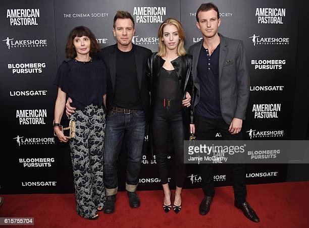 Ewan McGregor Eve Mavrakis Clara Mathilde McGregor and guest attend a screening of American Pastoral hosted by Lionsgate Lakeshore Entertainment and...