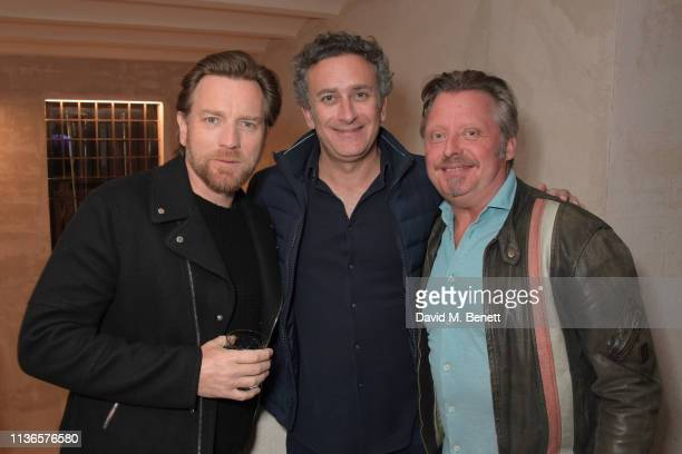 Ewan McGregor Formula E CEO Alejandro Agag and Charley Boorman attend Flavio Briatore's birthday dinner ahead of the ABB FIA Formula E GEOX Rome...
