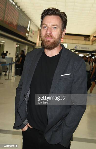 Ewan McGregor is seen upon arrival at Narita International Airport on September 4 2018 in Narita Japan