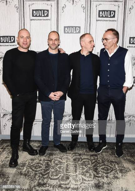Ewan McGregor Jonny Lee Miller Ewen Bremner and director Danny Boyle attend the Build Series to discuss the new film 'T2 Trainspotting' at Build...