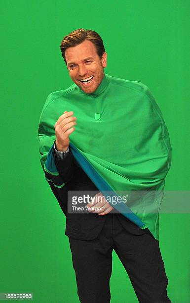 Ewan McGregor performs a skit during a taping of Late Night With Jimmy Fallon at Rockefeller Center on December 17 2012 in New York City