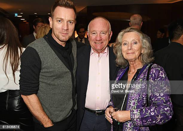 Ewan McGregor poses with parents James McGregor and Carol McGregor at the exclusive prerelease screening of his directorial debut American Pastoral...