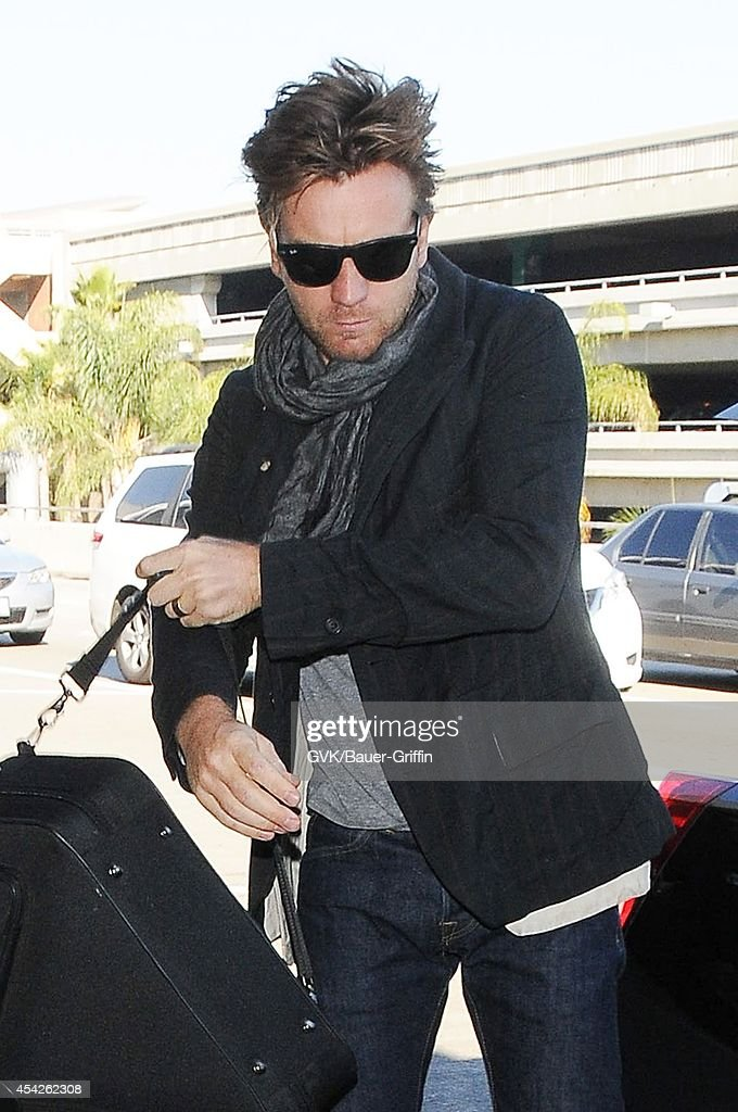 Ewan McGregor seen at LAX on August 27, 2014 in Los Angeles, California.