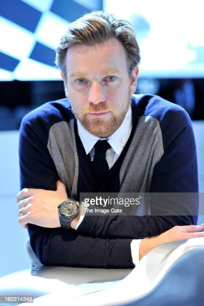 Ewan McGregor visits the IWC booth during the Salon International de la Haute Horlogerie 2013 at Palexpo on January 23 2013 in Geneva Switzerland