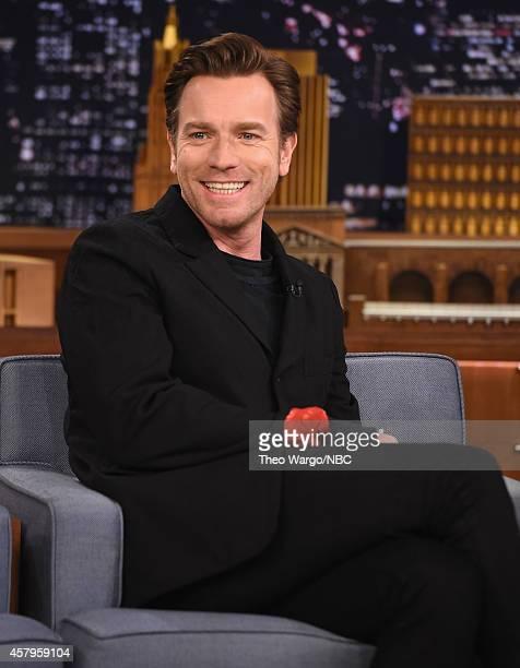 Ewan McGregor Visits 'The Tonight Show Starring Jimmy Fallon' at Rockefeller Center on October 27 2014 in New York City