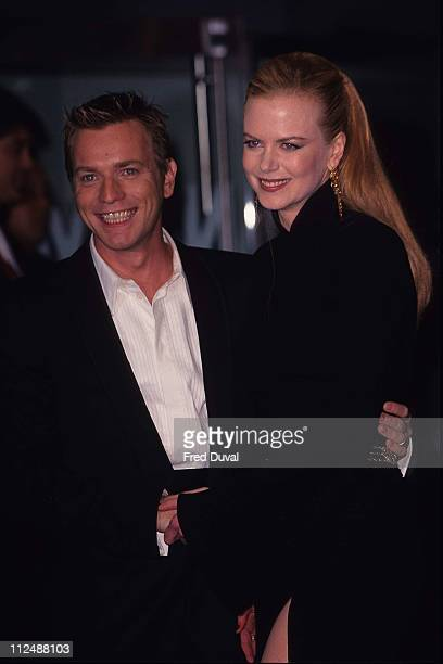 Ewan McGregor with Nicole Kidman during Moulin Rouge London Premiere at Odeon Leicester Square in London United Kingdom