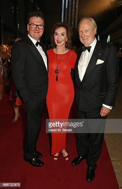 Ewan Venters Carol Victor and Ed Victor attend the GQ Men Of The Year Awards 2016 at the Tate Modern on September 6 2016 in London England