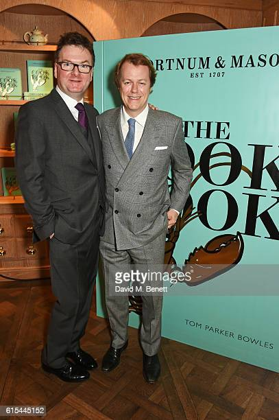 "Ewan Venters, Fortnum & Mason CEO, and Tom Parker Bowles attend the launch of ""Fortnum & Mason: The Cook Book"" by Tom Parker Bowles at Fortnum &..."