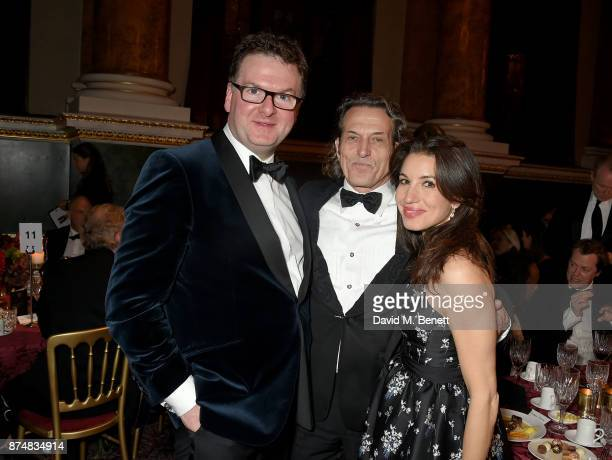 Ewan Venters Stephen Webster and Lauren Kemp attend the Leopard Awards in Aid of the Prince's Trust at Goldsmith's Hall on November 15 2017 in London...