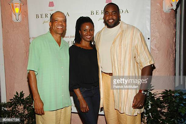 Ewart Brown Barbara Smith and Kwame Kilpatrick attend BERMUDA MUSIC FESTIVAL 2006Day 1 at Fairmont Southampton Beach Club on October 4 2006 in Whaler...