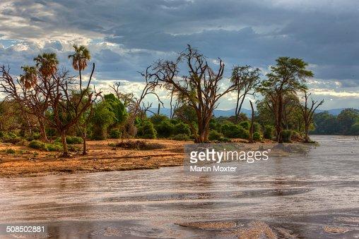 Ewaso Ngiro River In Samburu National Reserve Kenya East