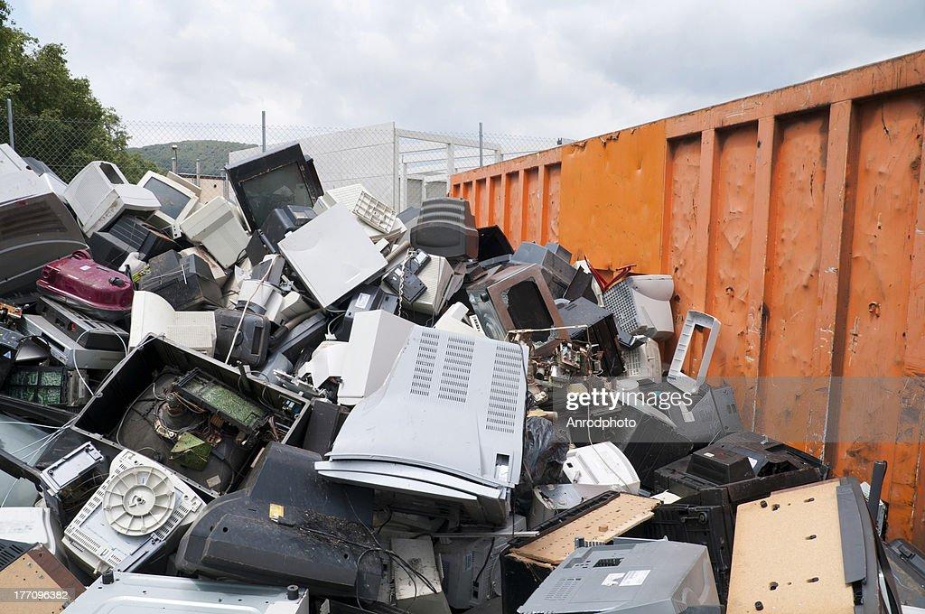 Lixo electrónico : Foto de stock
