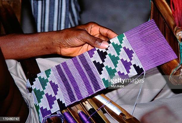 Ewe weavers utilize an almost identical form of the narrowstrip loom as that of the Asante However influenced by neighboring peoples including the...
