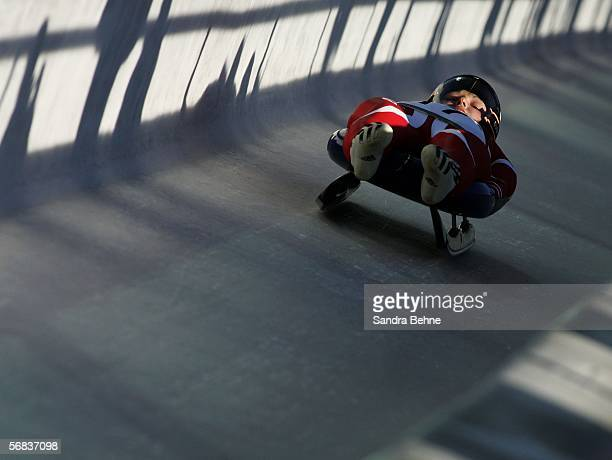 Ewelina Staszulonek of Poland competes in the Womens Luge Single event on Day 3 of the 2006 Turin Winter Olympic Games on February 13 2006 in Cesana...