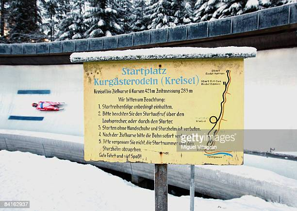 Ewelina Staszulonek of Poland competes in the women's single race during the Luge World Cup competition on January 3 2009 in Koenigssee Germany