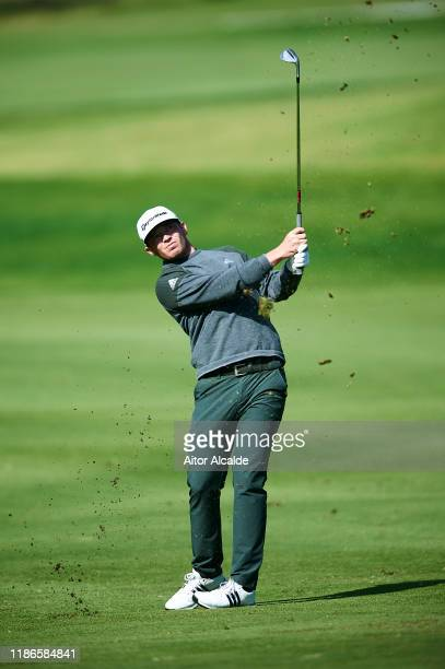 Ewen Ferguson of Scotland makes his second shoot on the 5th hole during day 3 of the Challenge Tour Grand Final at Club de Golf Alcanada on November...