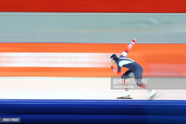 Ewen Fernandez of France competes during the Men's 1500m Speed Skating event on day 8 of the Sochi 2014 Winter Olympics at Adler Arena Skating Center...